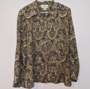 ***3 for $15 Unique Paisley Blouse Sz 16